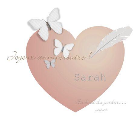 Anniversaire Sarah
