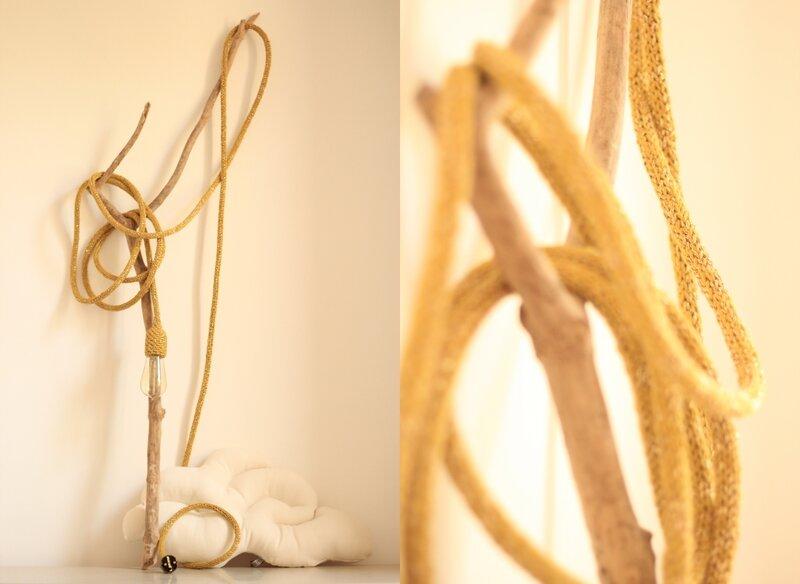 Baladeuse luminaire laine coton lurex tendance Trendy Little 2