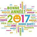 Bonne année 2017 ! qu'elle soit créativement magnifique !