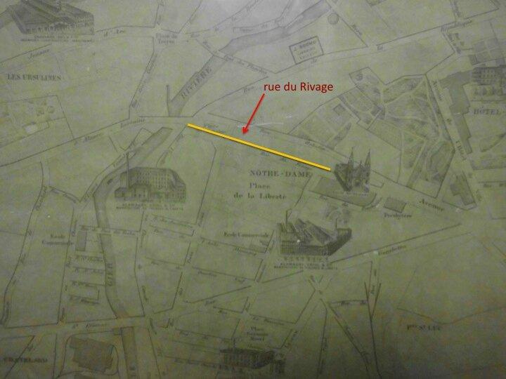 rue du Rivage plan 1895