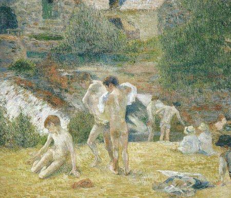 jeunes bretons au bain
