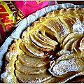 Tarte aux pommes et au carambar