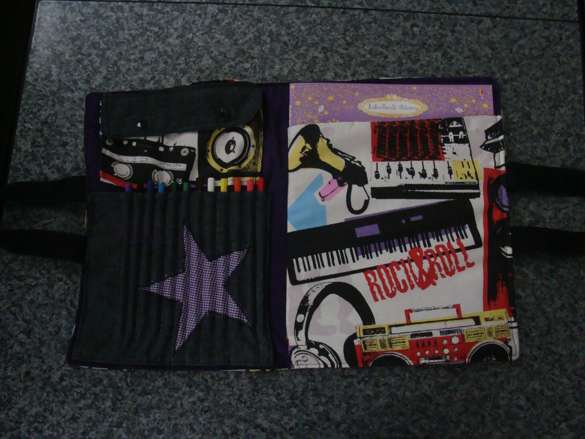 sac d'artiste pour l'anniversaire dAstrid thème Rock