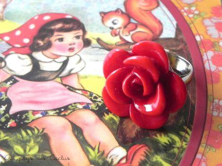 Bague rose rouge Au pays des Cactus 2