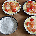 Mini quiche au saumon sans gluten et sans lactose