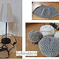 TUTO  DIY  Crocheter et tricoter une lampe  galets  et TUTO VIDEO  comment tricoter en rangs raccourcis 