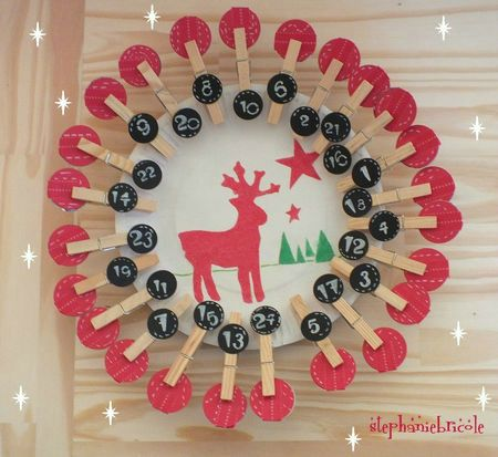 diy deco noel id e de calendrier de l avent faire soi. Black Bedroom Furniture Sets. Home Design Ideas