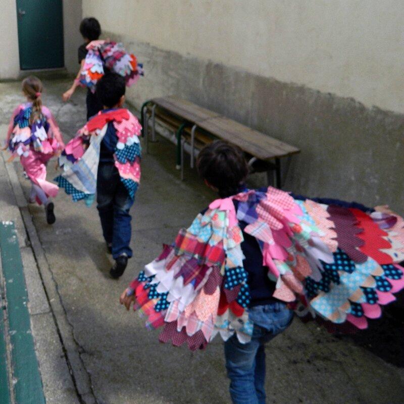 ailes en tissu,accessoire de déguisement,enfant,DIY,actvité enfant,couture 7 blog