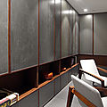 Interiors decorations on lacquer for an office in tianjin.