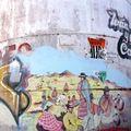 fresque sur citerne, humahuaca, argentine