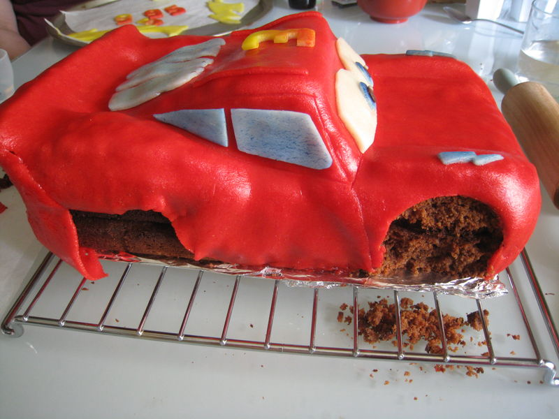 Gateau en 3d cars