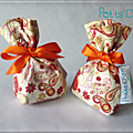 Sachet de lavande en Liberty Mark orange