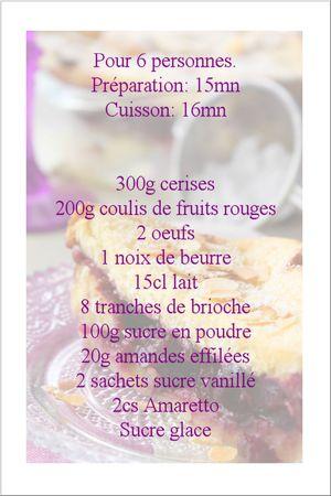 recette brioche aux cerises
