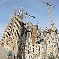 Barcelone, la Sagrada Familia, profil (Espagne)