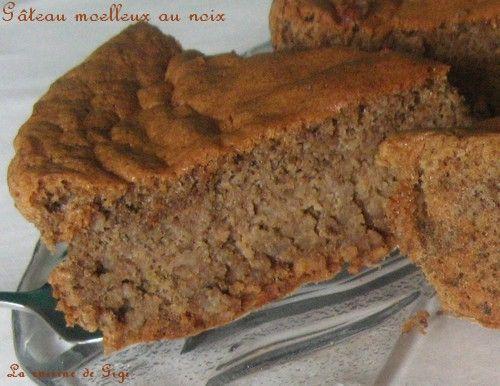 gâteau moelleux, léger et fondant aux noix sans gluten - la