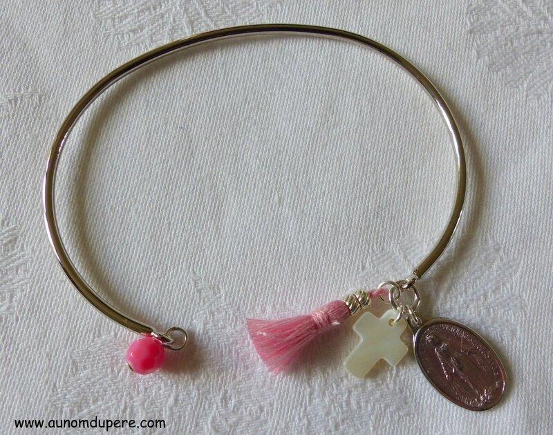 Bracelet de Nazareth (rose et argenté) - 16 €