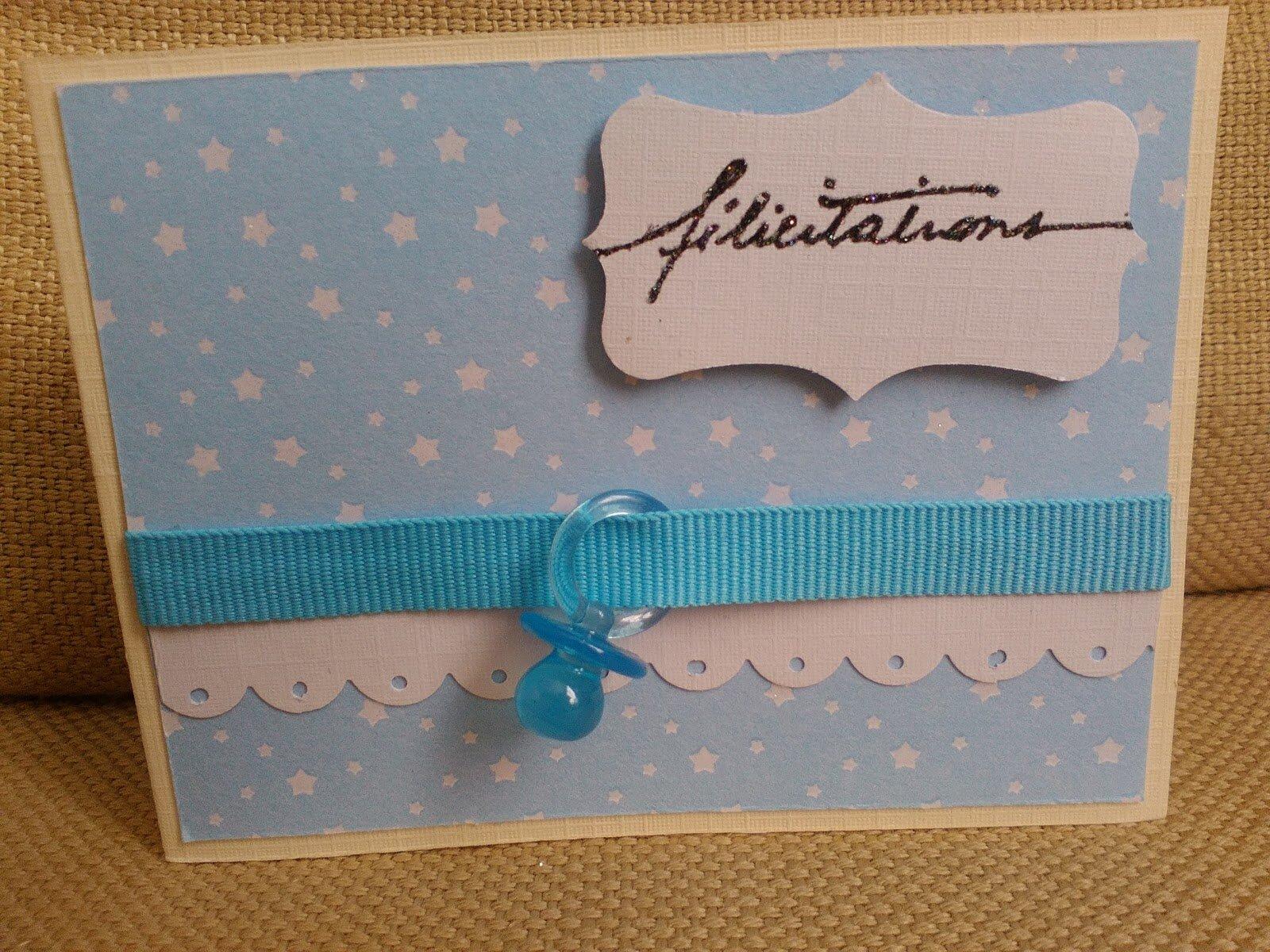 Carte félicitations naissance