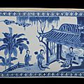 A rare chinese blue and white screen tile, kangxi period (1662-1722)