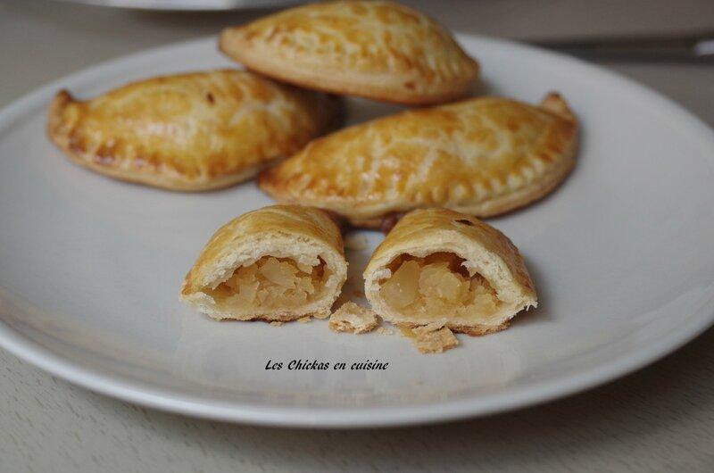 Chausson aux pommes avec essai pâte feuilletée (8)