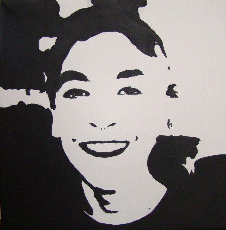 Portrait noir et blanc de mon fils aux couleurs de mes - Encadrement portrait noir et blanc ...