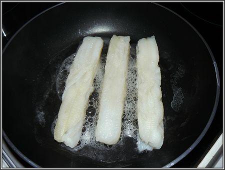 Filets de sole réduction de poireaux crémés 007