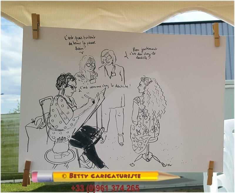 caricature de betty illustrateur de propos session live immersions dessinees