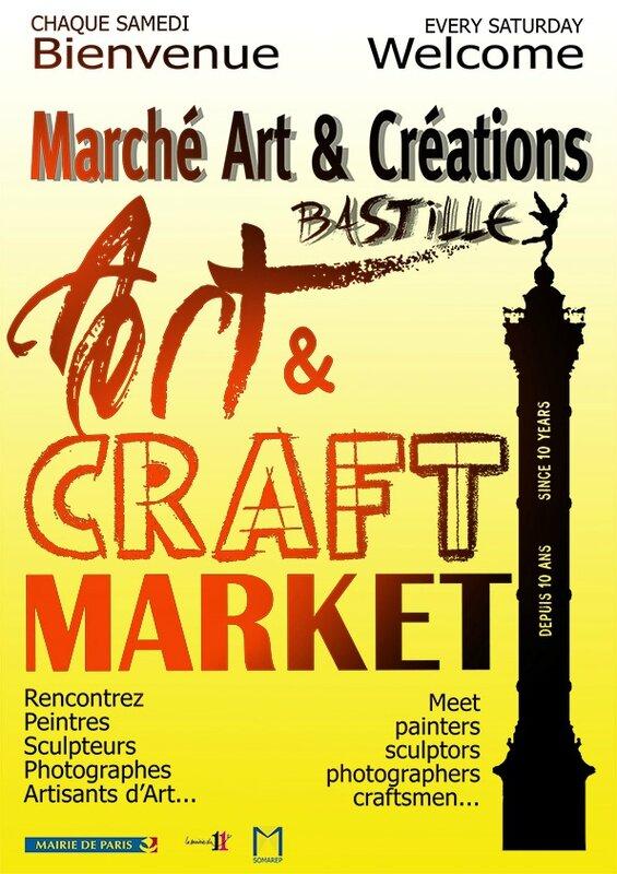 Marché art et création paris bastille