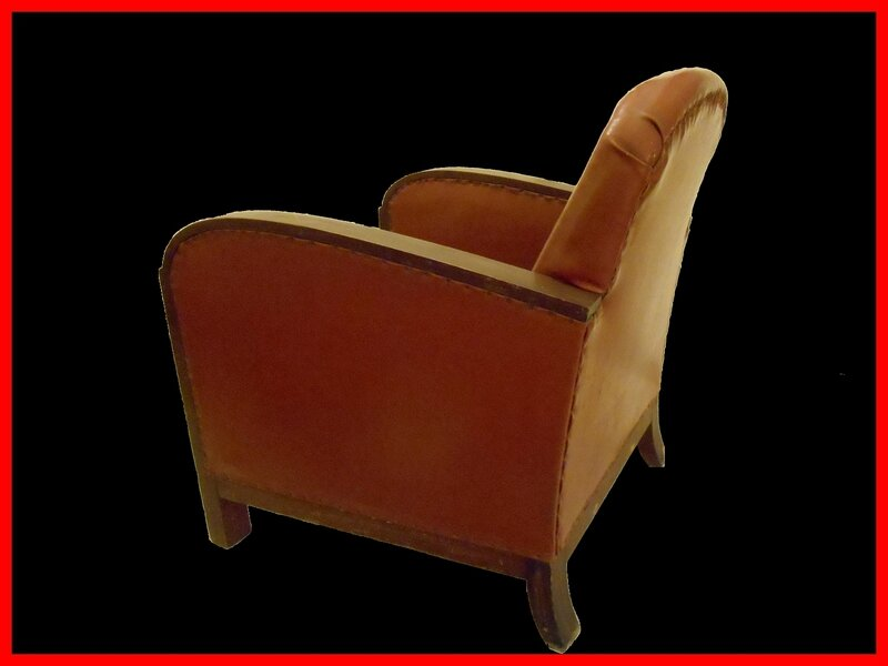 fauteuil club art deco meubles et d coration vintage design scandinave. Black Bedroom Furniture Sets. Home Design Ideas