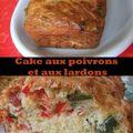 Cake aux poivrons et aux lardons