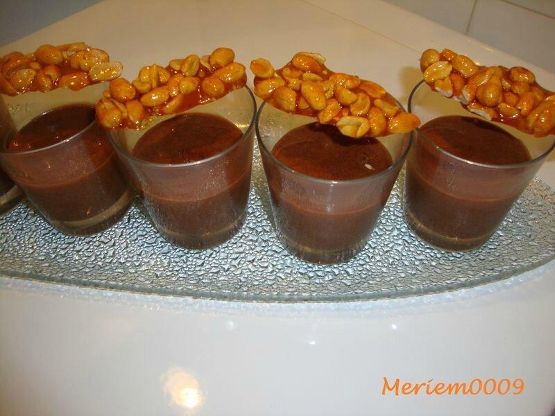 Mousse au Nutella, cacahuètes caramélisées