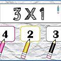 Tables de multiplication (x3, x4 et x5) : jeu autocorrectif