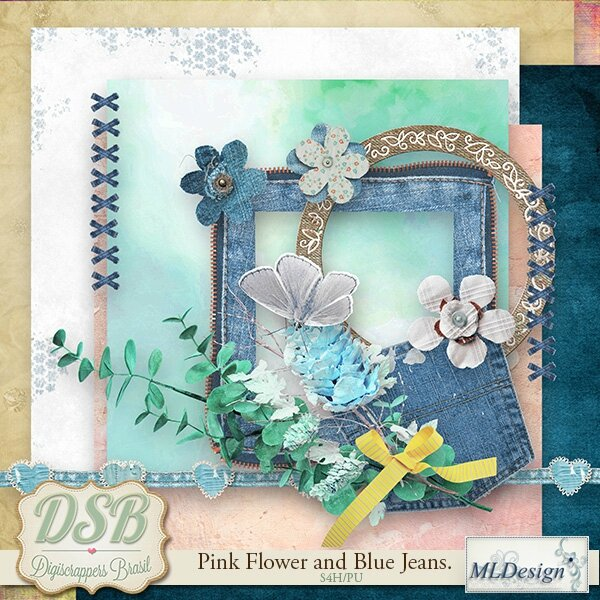 MLDesign_Pink Flower and Blue Jeans