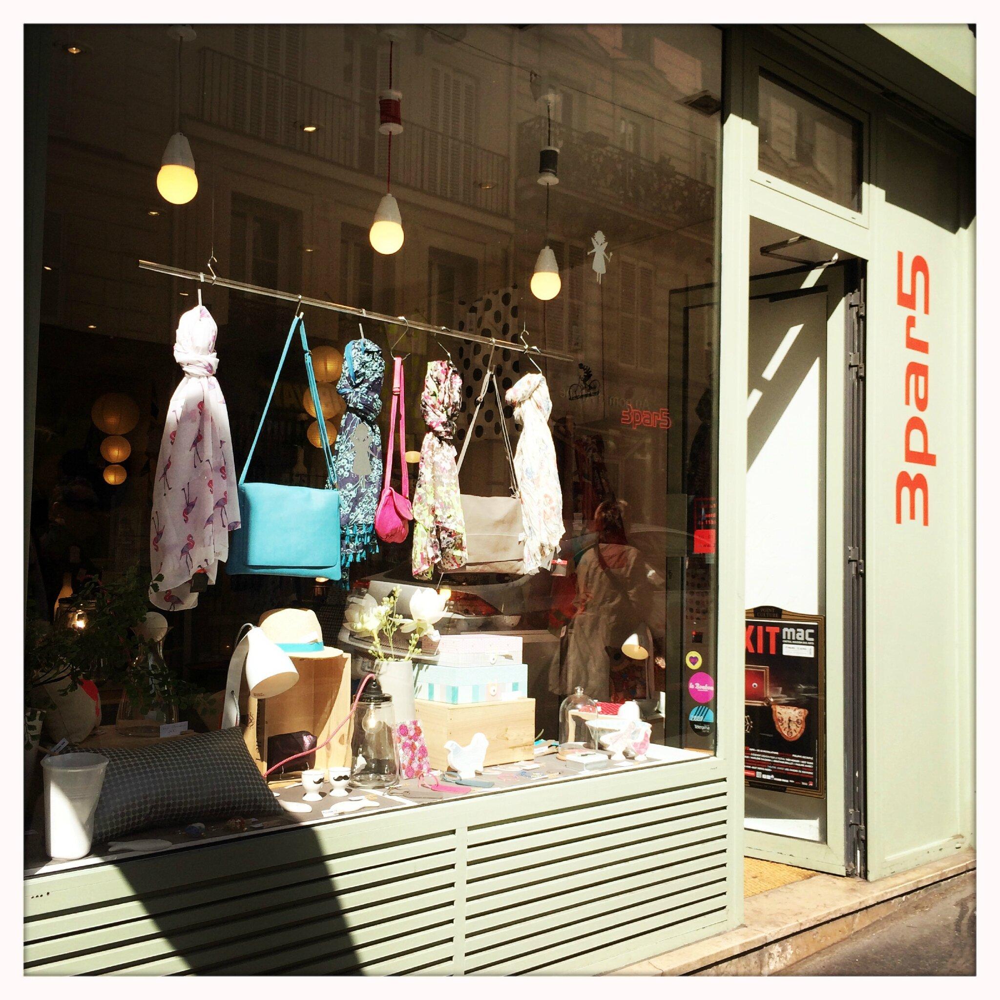 Une jolie boutique paris 3par5 blog lifestyle for Boutique de decoration paris