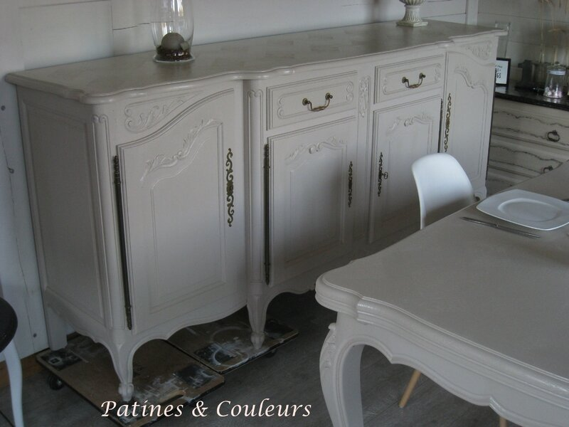 salle manger r gence relook e patines couleurs. Black Bedroom Furniture Sets. Home Design Ideas