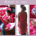robe lulu mousseline rouge à pois
