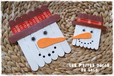 diy faire un bonhomme de neige en b tonnets de bois les p 39 tites d cos de lolo. Black Bedroom Furniture Sets. Home Design Ideas