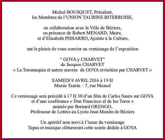 Goya y Charvet invitation