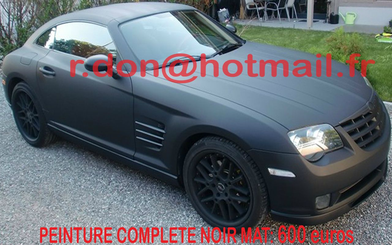 chrysler crossfire film teinte auto teindre vitre auto adhesif noir peinture de v hicule. Black Bedroom Furniture Sets. Home Design Ideas