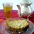 {Poppyseed and honey cake with orange blossom water}