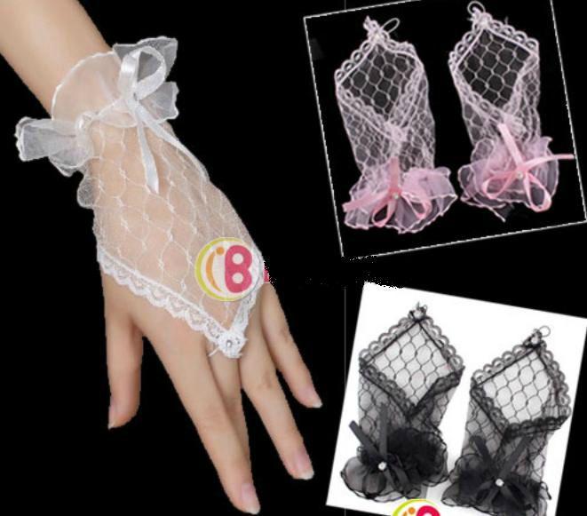 Gants de mariée courts (réf n°4) blanc, ou noir