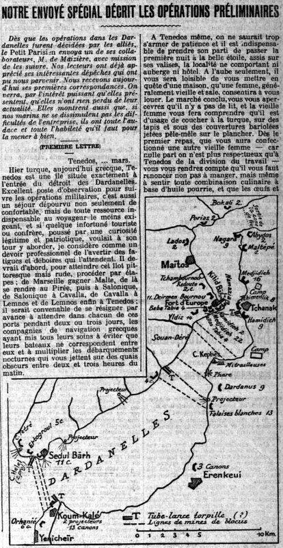 Le Petit Parisien 21 03 1915 Dardanelles