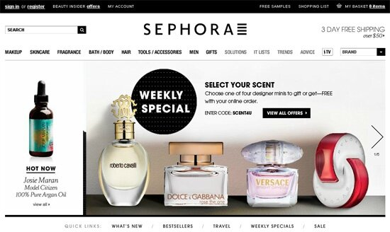 sephora-website