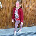 Une veste enfant à torsades