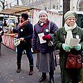 Distribut° sur le marché du message de Noël de la MO 14 12 2014