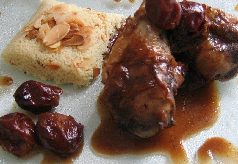 Manchons de canard pic s aux quetches et semoule l 39 assiette pic e - Recette manchons de canard en cocotte ...