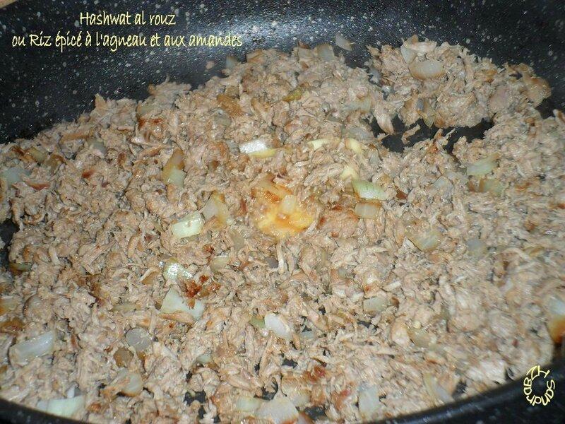 0916 Hashwat al rouz ou Riz épicé à l'agneau et aux amandes 1