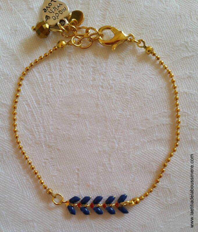 Bracelet Zélie (bleu nuit et or)