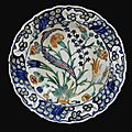 An iznik polychrome dish, turkey, circa 1560