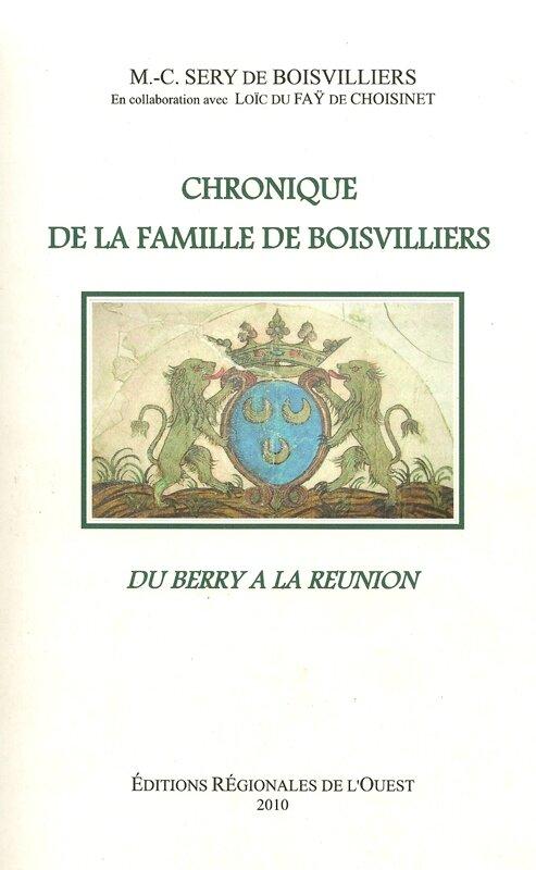 Chroniques de la Famille de BOISVILLIERS