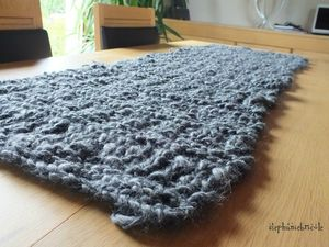 snood geant, tuto tricot snood